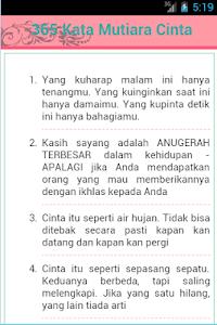 Download 365 Kata Mutiara Cinta 2 5 Apk Downloadapk Net