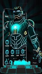 Download 3D Neon Hero Theme 1.1.7 APK