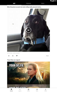 screenshot of 9GAG version Varies with device