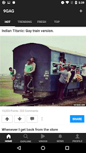screenshot of 9GAG: Best LOL Pics & GIFs  version Varies with device