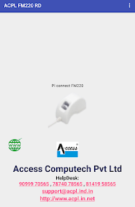 screenshot of ACPL FM220 Registered Device version 2.0.0