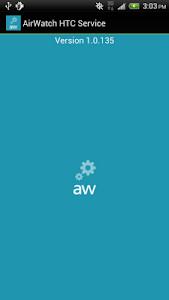 screenshot of AirWatch HTC Service version 1.0.178