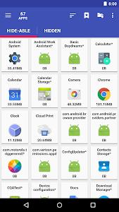 screenshot of AppMgr III (App 2 SD, Hide and Freeze apps) version 4.63