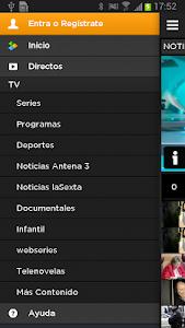 screenshot of Atresplayer version 1.3.1