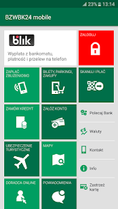 screenshot of BZWBK24 mobile version 4.4.0