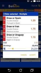 screenshot of Betsim - You play it, You win it version 1.7.1.0