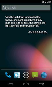 screenshot of Bible Verse of the Day Widget version 1.9.6
