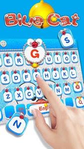 screenshot of Blue Cat Diamond Keyboard version 10001001