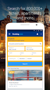 screenshot of Booking.com Hotel Reservations version 8.9.2