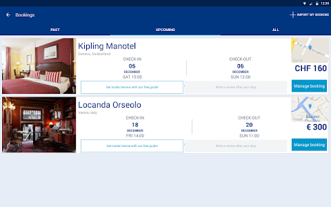 screenshot of Booking Hotels, Vacation Deals version 8.9.2