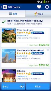 screenshot of Booking.com Hotel Reservations version 8.0.3