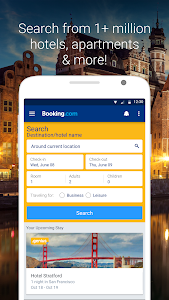 screenshot of Booking.com Hotel Reservations version 8.9.2