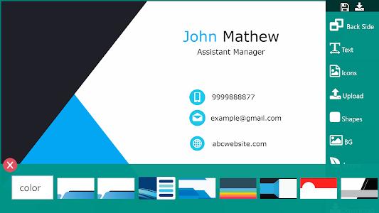 Download Business Card Maker Free Visiting Card Maker photo 5.4 APK