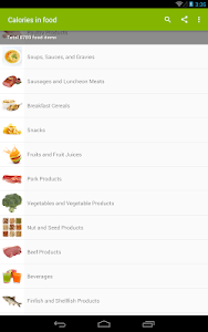 Download Calories in food 1.6 APK