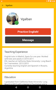 screenshot of Cambly - English Teacher version 2.8.10