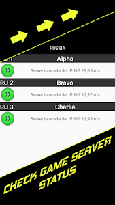 screenshot of Check Ping in Games version 2.7