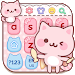 Download Cute Pink Kitty Keyboard 10001002 APK