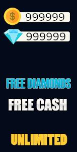 screenshot of Diamonds Free Fire calc version 1.0