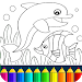 Download Dolphin and fish coloring book  APK