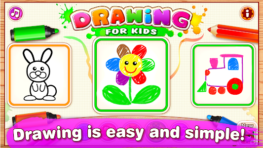 screenshot of Drawing for Kids Learning Games for Toddlers age 3 version 2.1.2.1
