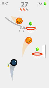 screenshot of Dunk Line version 1.3