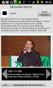 screenshot of Esperanto-radio Muzaiko version Varies with device