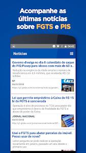 screenshot of FGTS e PIS - Consulte Saldo version 1.3.8