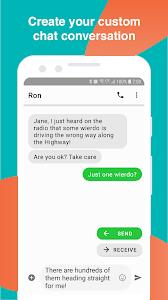 screenshot of Fake Text Message version 6.2