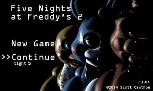 screenshot of Five Nights at Freddy's 2 Demo version 1.07