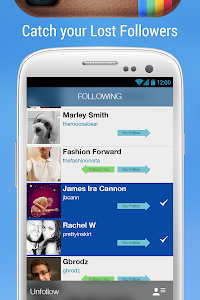 screenshot of Followers+ for Instagram version 1.1.3