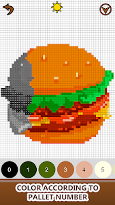 Download Food Color by Number - Pixel Number Draw Coloring 1.1 APK