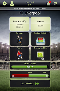screenshot of Football Tycoon version 1.15