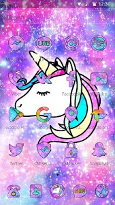 Download Galaxy Unicorn Shiny Glitter Theme 1.1.2 APK