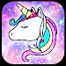 Download Galaxy Unicorn Shiny Glitter Theme 1.1.2 APK