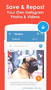 screenshot of InstaSave - Download Instagram Video & Save Photos version 1.3.0
