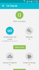 screenshot of Learn C# version 1.7