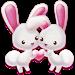 Download Love Rabbit Theme - Kawaii Cute Bunny Comic Theme 3.9.8 APK