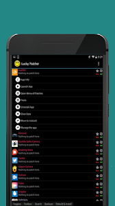 screenshot of Lucky Patcher version 1.0