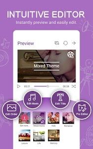 screenshot of MiniMovie-Slideshow Video Edit version 2.5.3.9_160912