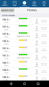screenshot of Monitor Your Weight version 4.1.4
