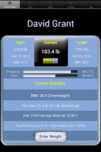 screenshot of Monitor Your Weight version 3.7.7