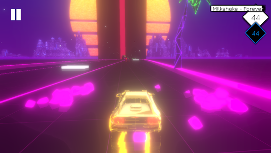 screenshot of Music Racer version 2.0