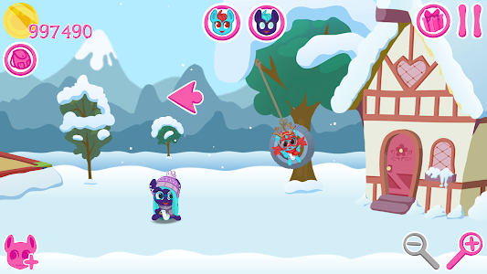 screenshot of My Pocket Pony - Virtual Pet version 1.77 - Winter Fairy-Tale