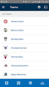 screenshot of NBA app version 7.1022