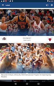 screenshot of NBA app version 7.0921
