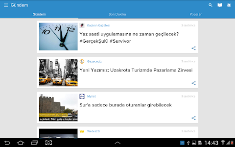 screenshot of Nabız: Size Özel Anlık Haber version 3.6