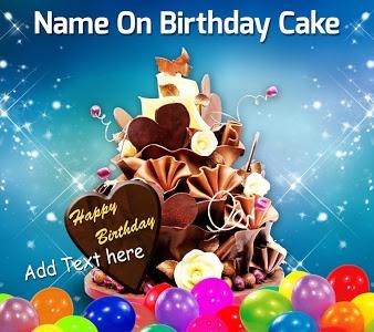 screenshot of Name On Birthday Cake - Photo, birthday, cake version 15.2