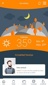 screenshot of Naranja version 1.0.16