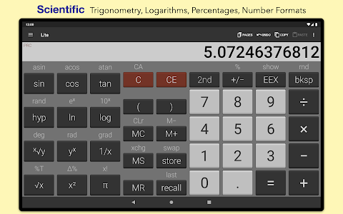 screenshot of NeoCal Lite Calculator version 3.0.1-2