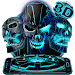 Download Neon Tech Evil Skull 3D Theme 1.1.16 APK